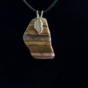 Cord Necklace-Tiger's Eye