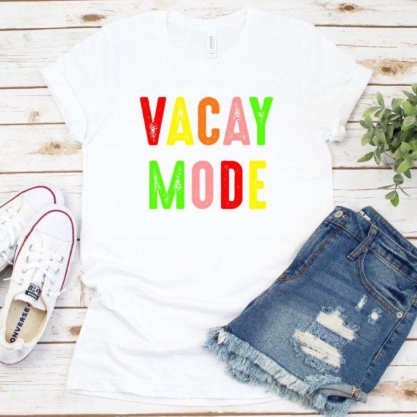 Vacay Mode Rainbow Tee
