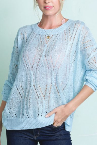 Sky Blue Lightweight Sweater