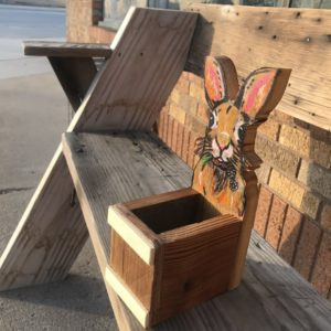Wooden Easter Bunny Basket