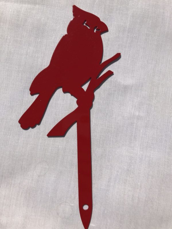 Cardinal Garden Decoration Stake