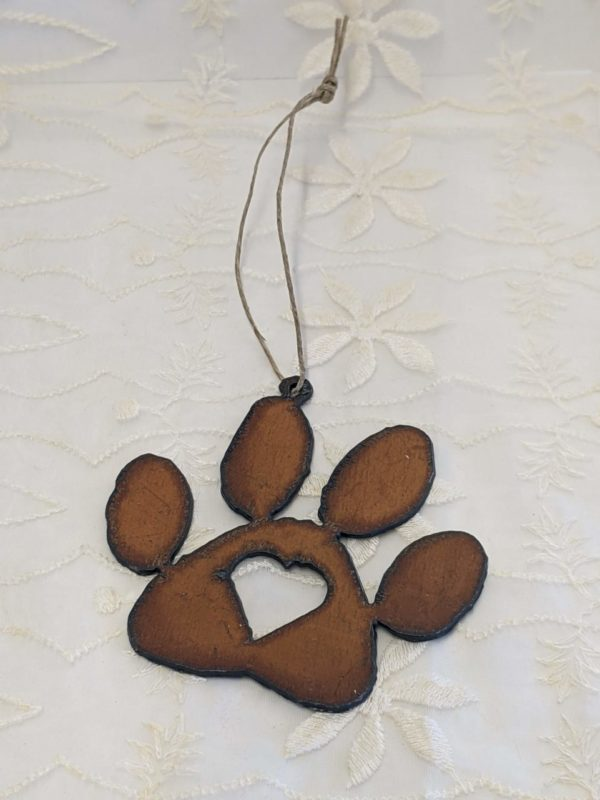 Paw with Heart Ornament