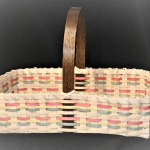 Multicolored Handmade Basket by Artisan Doug Sickler