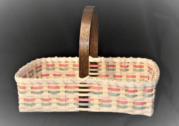 Multicolored Handmade Basket by Artisan Doug Sickler