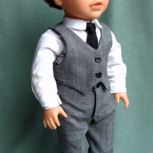 Boy doll clothes for 18 inch doll 4-piece suit vest pants shirt tie
