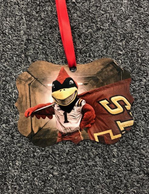 Iowa State University Metal Ornament: 'I Love Cy'