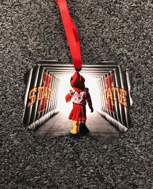 Iowa State University Metal Ornament: Forward
