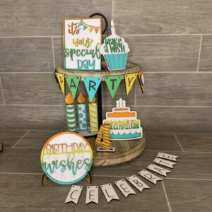 Birthday Tiered Tray Bundle DIY Wood Craft Kit