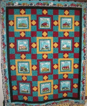 Papa's Old Truck Quilt Kit