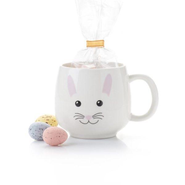 Sweet Bunny Mug with Chocolate Eggs