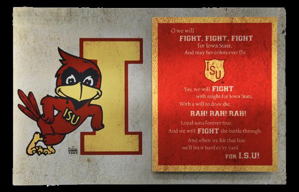 ISU Vintage Fight Song on Metal