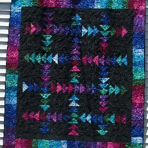 Jewel Tones Running Geese Quilt Kit