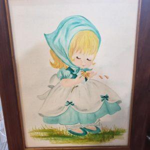 Hand-Painted Picture, Blue Bonnet