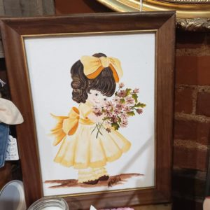 Hand-Painted Picture, Yellow Bow