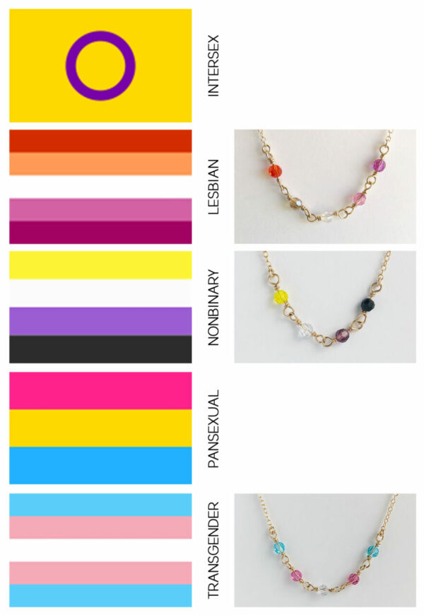 LGBQTI+ Crystal Bead Bracelet