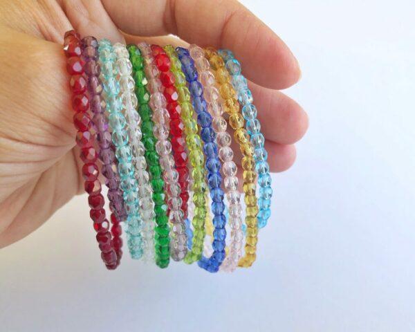 Birthstone Crystal Elastic Bracelet