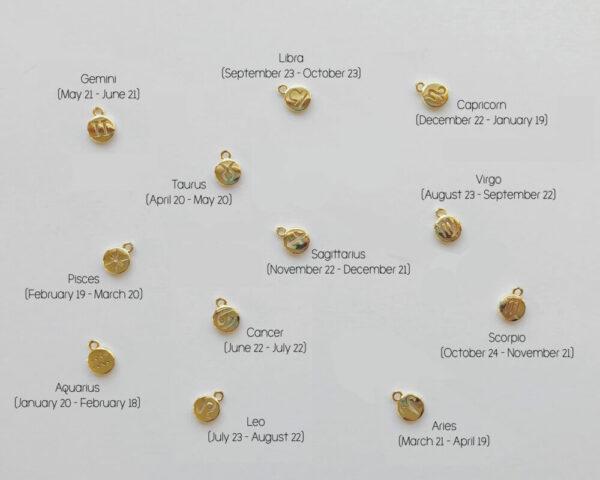 Zodiac Charm Pendant Add-On