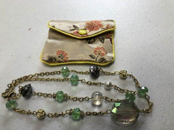Beautiful handmade mint green necklace