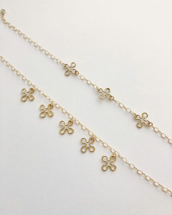 Flower Charms Bracelet