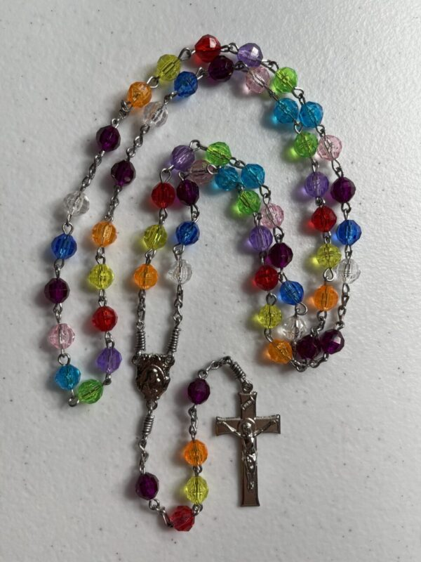 Handmade multi color acrylic rosary