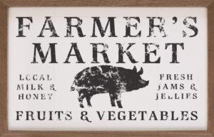 Farmer's Market – Kendrick Home Wood Sign