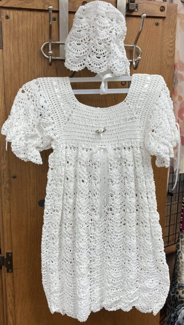 Baptism/Christening hand-crocheted gown