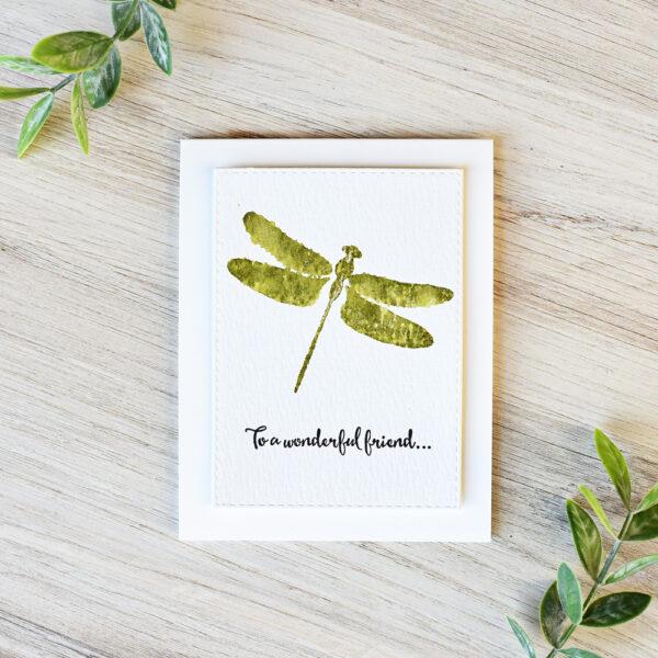 Dragonfly Friendship handmade greeting card