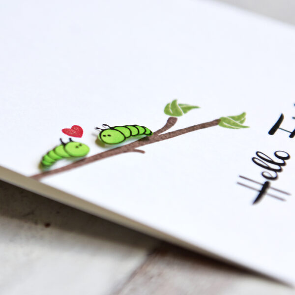Hello Friend handmade greeting card