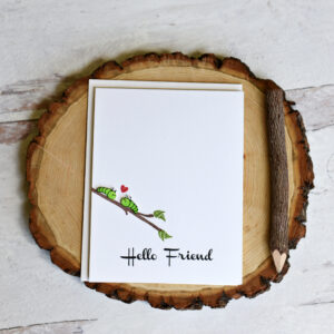 Hello Friend handmade greeting card
