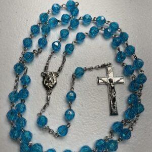 Handmade turquoise acrylic rosary