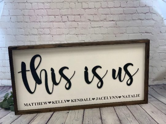This Is Us Personalized 3D Farmhouse Sign