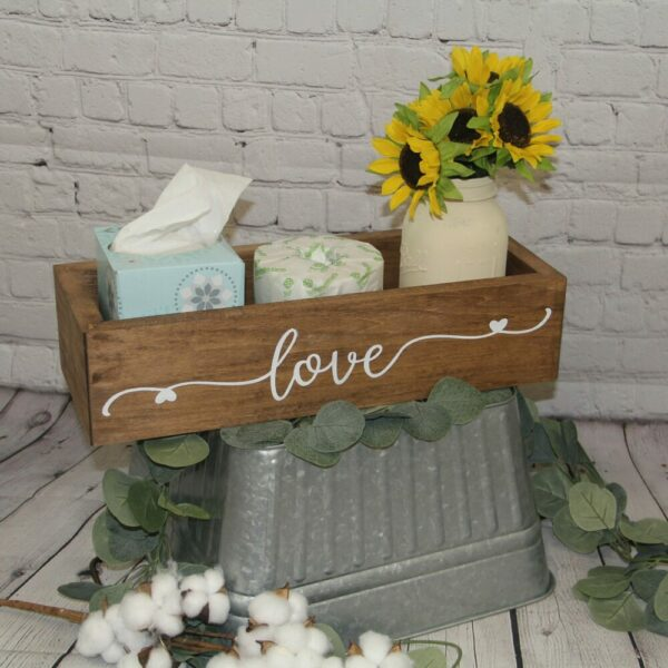 Love Back of Toilet Farmhouse Crate