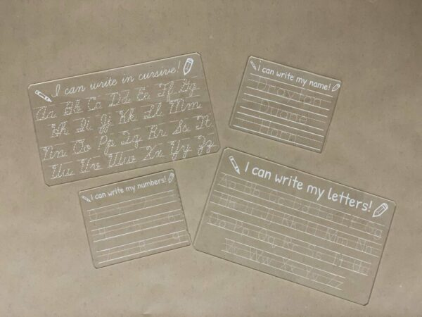 Handwriting Acrylic Practice Tracing Board