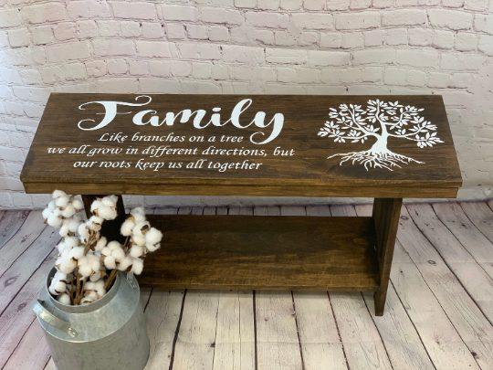 Family Entryway Memorial Bench