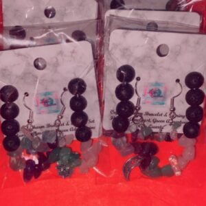 Crystal Charm Bracelet and Earring set