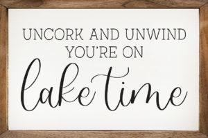 Uncork Unwind – Kendrick Home Wood Sign