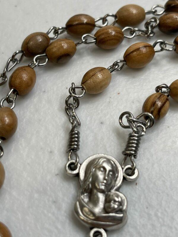Handmade olive wood rosary