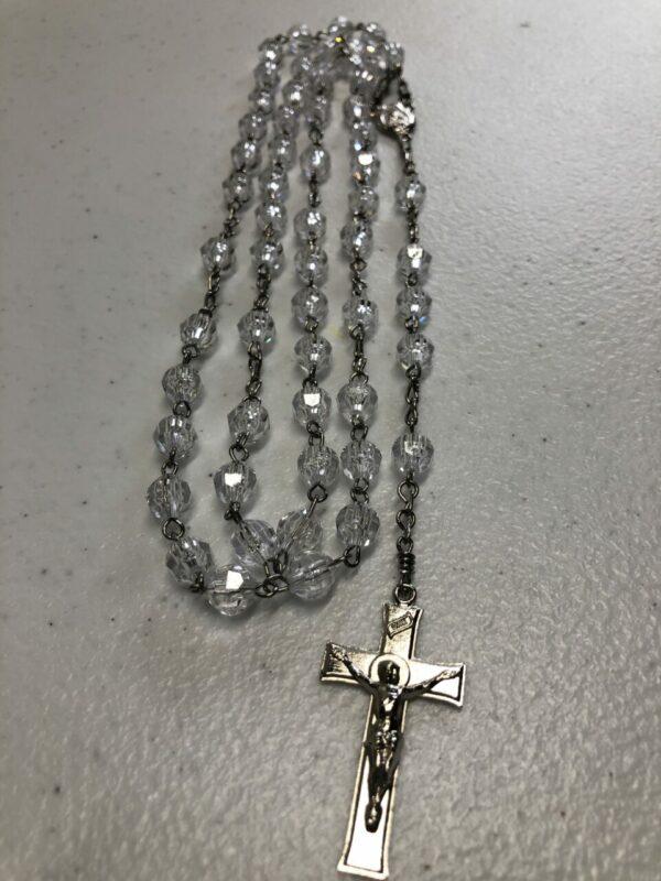 Handmade clear acrylic rosary