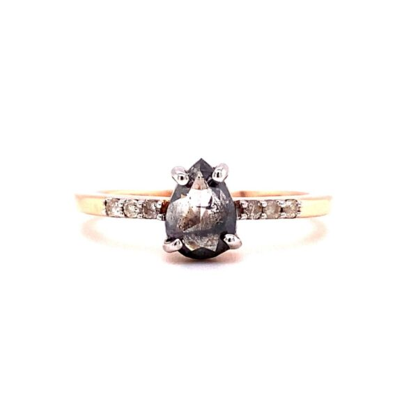 Aiya 'Salt and Pepper' Diamond Ring