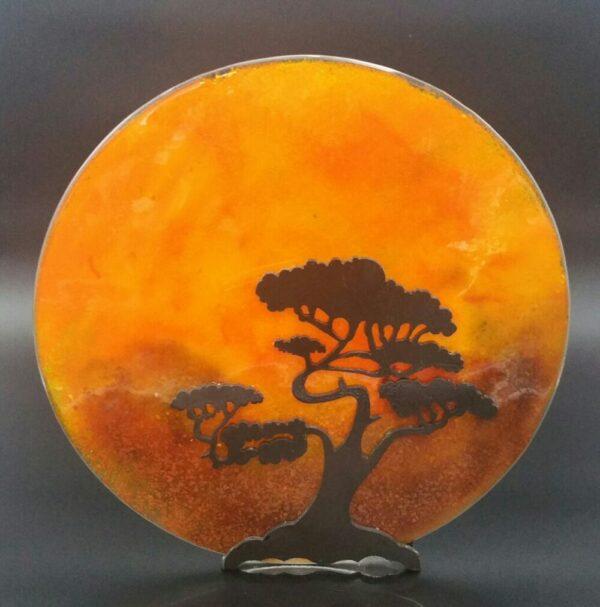 """Africa"" Glasswork by Nancy Rasmussen"