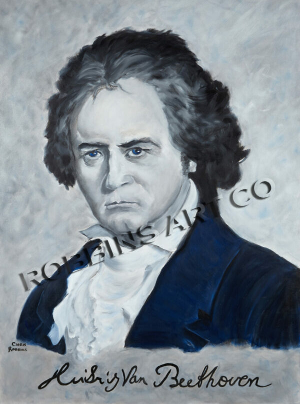 Beethoven Oil Painting by Chris Robbins