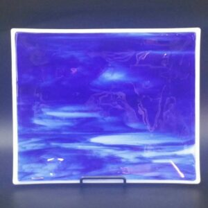 Blue Glass Tray by Nancy Rasmussen