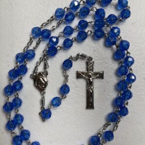 Handmade royal blue acrylic rosary