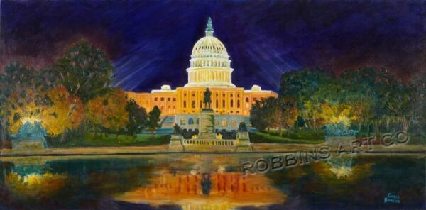 The Capitol Oil Painting by Chris Robbins