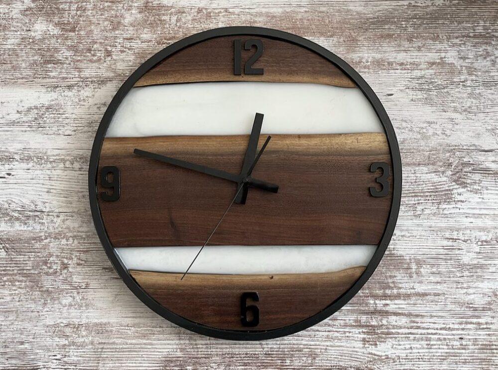 photo of Black Walnut Live Edge Clock, Kaius & Co, Shop Iowa