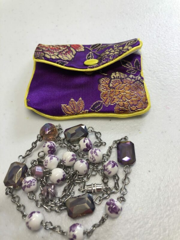 Handmade floral purple necklace