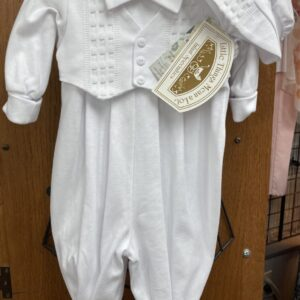 Baptism/Christening one-piece vest outfit