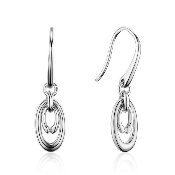 Bentelli Sterling Silver Dangle Earrings