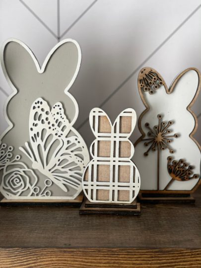 Decorative Wooden Easter Bunnies