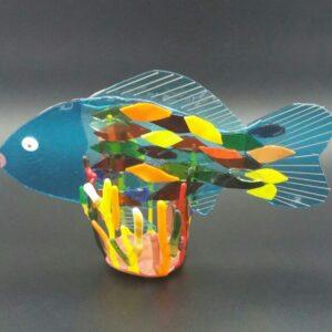 Francis The Fish glasswork by Nancy Rasmussen
